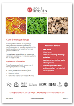 Core Beverage Range - natural beverage flavours